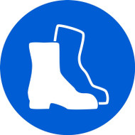 ISO Mandatory Safety Sign- Wear Foot Protection - .040 Aluminum - 6''
