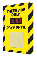 Countdown Scoreboard- Black and Yellow Safety Stripes