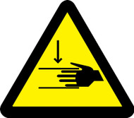 ISO Safety Sign- Crush Hazard - Plastic - 6''