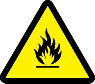 ISO Safety Sign- Fire Hazard - .040 Aluminum - 6''