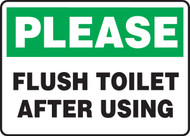 Please Flush Toilet After Using Sign