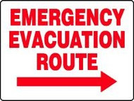 Emergency Evacuation Route Sign with Arrow Right 1