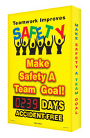 Digi Day Safety Scoreboards- Teamwork Improves Safety- Accuform SCA239