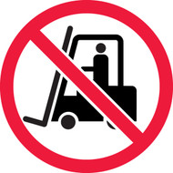 ISO Safety Sign- No Industrial Trucks Sign - .040 Aluminum - 6''