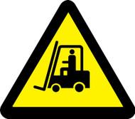 ISO Warning Safety Sign- Lift Truck Hazard - Adhesive Vinyl - 6''
