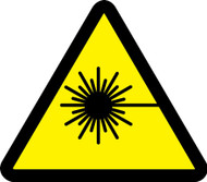 ISO Warning Safety Sign- Laser Hazard Sign- Adhesive Vinyl - 6''
