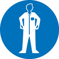ISO Mandatory Safety Sign- Wear Protective Clothing - Plastic - 6''