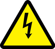 ISO Safety Sign- Electric Voltage Hazard Sign- Plastic - 6''