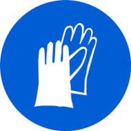 ISO Mandatory Safety Sign- Wear Hand Protection Sign - .040 Aluminum - 6''