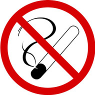 ISO Prohibition Safety Sign- No Smoking - Plastic - 6''