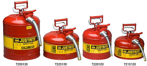 "Accuflow Safety Can Type II 2-1/2 Gallon  w/ 1"" Hose"