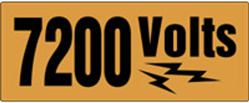 7200 Volts Label Voltage Marker
