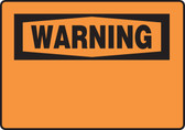 Warning Blank Sign