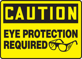 Caution - Eye Protection Required (W/Graphic)