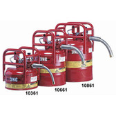 """D.O.T. Type II Safety Can- 5 Gallon w/ 1"""" Hose- Red"""