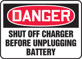 Danger - Shut Off Charger Before Unplugging Battery