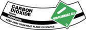 Carbon Dioxide Non-flammable Gas Warning Keep Away From Heat, Flame Or Sparks