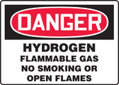 Danger - Hydrogen Flammable Gas No Smoking Or Open Flames