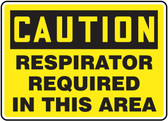 Caution Respirator Required In This Area