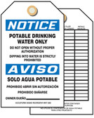 Notice Potable Drinking Water Only Tag