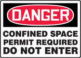 Danger - Confined Space Permit Required Do Not Enter Sign
