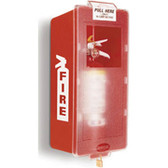 Fire Extinguisher Cabinet- Red Plastic Cabinet- Clear Cover- Indoor
