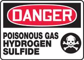Danger - Poisonous Gas Hydrogen Sulfide