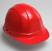 Hard Hat  w/ 6 Point Suspension-Red Hard Hat