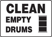 Clean Empty Drums