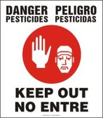 Danger Pesticides Keep Out Sign- Bilingual Safety Sign