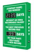 Digi Day Plus Safety Scoreboard for Outdoor Use- Semi Custom SCM335