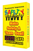 Outdoor Safety Scoreboard- Digi Day Plus Teamwork Improves Safety SCM313