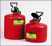 Disposal Safety Can- 3 gallon- Polyethylene Safety Can- color Red