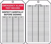 Emergency Alarm Test Record