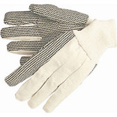 Work Gloves- Canvas Black Dot Gloves- Large