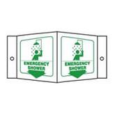 Emergency Shower Sign 3D