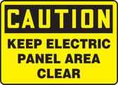 Keep Electric Panel Area Clear