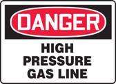 Danger - High Pressure Gas Line