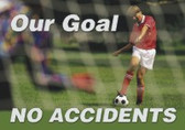 Changeable Sign Floor Mat- Our Goal No Accidents -soccer