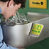 Bradley Eyewash Station - Barrier Free with bowl and skirt