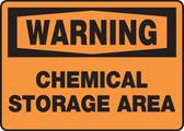 Warning - Chemical Storage Area