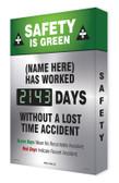 Semi Custom Safety Scoreboard Digi Day 2- Safety Is Green SCG143
