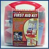 First Aid Kit- Portable- 234 Piece Kit in Plastic Box -2 Kits Per Order