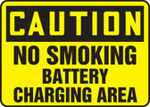 Caution - No Smoking Battery Charging Area