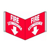 """Fire Extinguisher Sign 3D- 8"""" x 12"""" panel"""