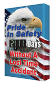 Digi Day 2 Electronic Safety Scoreboard- Pride in Safety- Eagle SCG111