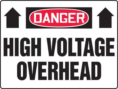 melc090 danger high voltage overhead sign