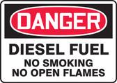 Danger - Diesel Fuel No Smoking No Open Flames