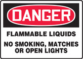 Danger - Flammable Liquids No Smoking, Matches Or Open Lights