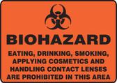 Biohazard Eating, Drinking, Smoking, Applying Cosmetics